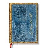 Paperblanks 仿皮封面笔记本 大横格 封面以迷人的手写字体印制了Wordsworth的信件和《Daffodils》中的诗句