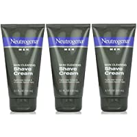 Neutrogena 露得清 Men Skin Clearing Shave Cream 5.10 oz (Pack of 3) Pack of 3