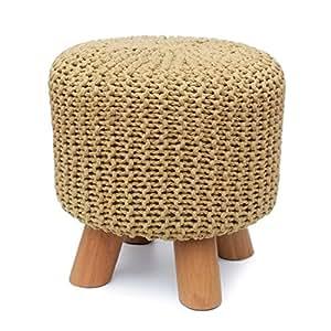 UUSSHOP 手工制作 * 纯棉针织脚凳 脚凳 脚凳 大坐垫 凳子 椅子