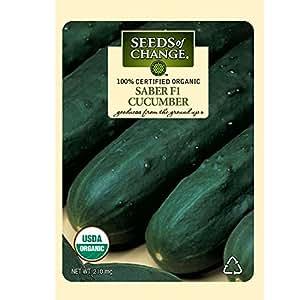 Seeds of Change Certified Organic Cucumber Saber F1