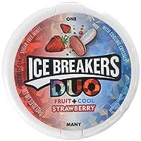 Ice Breaker 无糖薄荷糖,草莓味,1.3盎司(8包)