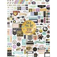 华丽的金箔计划贴纸 - 1250+ 令人惊叹的设计配件,增强和简化您的规划、日记和日历