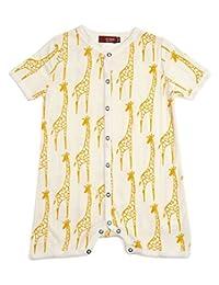 MilkBarn *棉婴儿连衣裤黄色长颈鹿 3-6 个月