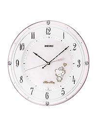 SEIKO CLOCK (セイコークロック) 掛け時計 ハローキティ ハイライン 電波 アナログ 薄ピンクパール CS501P
