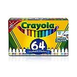 Crayola 可水洗马克笔,宽线,64 克拉 1包 混装。