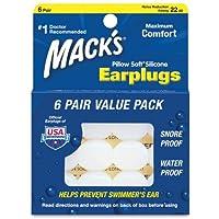 Mack's Pillow Soft Earplugs White 6 Pairs (Pack of 3)