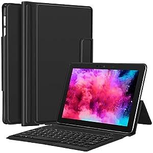 带键盘的 Surface Go 保护套 - CHESONA 超薄立式 PU 皮革商务保护套无线键盘保护套适用于 Microsoft Surface Go 10 英寸 2018 已发布Surfave Go Type Cover