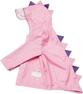 儿童雨衣 - 可重复使用的雨衣 便携式防水外套连帽雨衣 适合 2-6 岁男孩和女孩