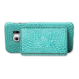 SumacLife Wallet Case for Samsung Galaxy S6 Edge - Retail Packaging - 水鸭色
