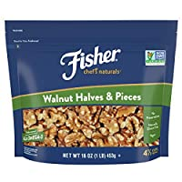 FISHER Chef's Naturals 胡桃木半片和件 Halves & Pieces 16 Ounce (Pack of 1)