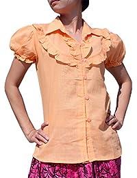 Full Funk 薄款浅棉娃娃 T 恤 粉色 橙色 S 码
