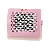 迷你桌面暖风机暖手暖脚宿舍办公室取暖器 (粉白色)