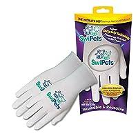 SwiPets 宠物毛发清洁手套,2副,白色