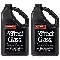 HOPE'S 完美无条纹玻璃清洁剂替换装,减少擦拭,无残留,2件装,67.6 盎司