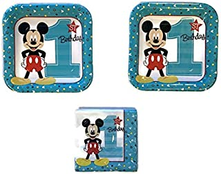 Mickey Mouse 1st Birthday Party Bundle 17.78 cm 餐巾纸 (16)