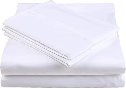 balichun 床单套装100% 棉质张,1.8英寸皱褶,褪色,防污渍–防*–袋深显示器 / 床单 / 枕套