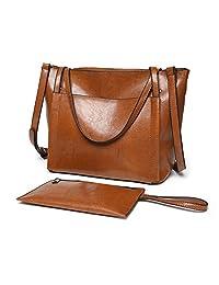 Women Purses and Handbags,ZZSY Ladies Leather Top Handle Satchel Shoulder bag Wallet Large Capacity