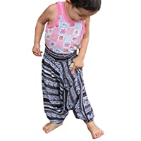RaanPahMuang 品牌浅粘胶罩罩衫 儿童 Aladdin 裤子亮色印花