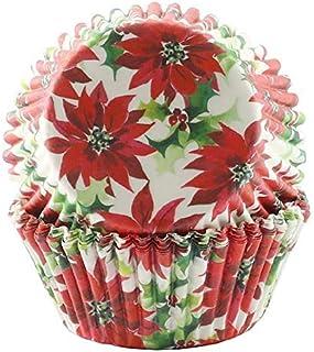 St. Nicholas Square 圣诞季节性品红桌布、餐垫、手巾、花环、晚餐盘、甜点盘、鸡尾酒餐巾和纸杯蛋糕杯(蛋糕杯)
