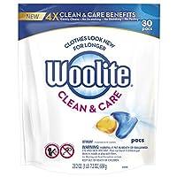 Woolite Pacs 洗护洗衣液,可供 30 次洗涤,适用于标准和高效洗衣机
