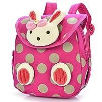 Lowpricenice Baby Toddler Child Kid 3D Cartoon Backpack Schoolbag Shoulder Bags (Hot Pink)