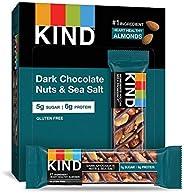 KIND 黑巧克力果仁海盐,无麸质,低糖,1.4盎司(约39.69克),12包