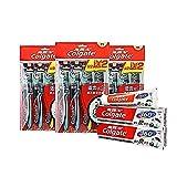 Colgate 高露洁 适齿炭多效牙刷×12 (升级含炭 软毛 超值装)(赠Colgate 高露洁 备长炭深洁牙膏40g×2 )