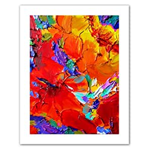 Art Wall Charlits Floral Unwrapped Canvas Art by Susi Franco, 28 by 22-Inch