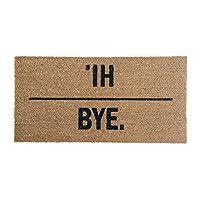 Bloomingville Hi。 再见。 Coir 门垫,80.01 厘米 x 40.01 厘米