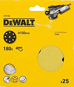 Dewalt 砂盘 150 mm K180 Velcro/9 大包 25 支,DT3156 QZ