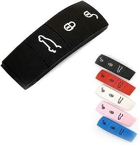 carmonmon 橡胶按钮垫适用于保时捷 911 918 泛亚玛 Cayenne Cayman 拳击手 黑色 LY036