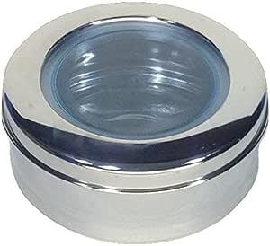 Qualways 不锈钢厨房罐 Stainless Steel (or) Silver Big