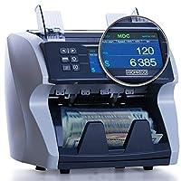 现金钞票计数机:现金价值计数机适用于多种货币和所有钞票:自动紫外线、磁性、红外线伪造器 - 高速银行钞票增值