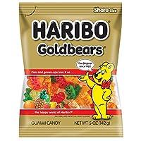 Haribo Gummi Candy, Goldbears Gummi Candy, 5 oz Bags (Pack of 12)