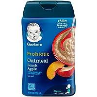 嘉寶 Gerber 嬰兒營養米粉 燕麥桃子蘋果益生菌 227g*單罐裝