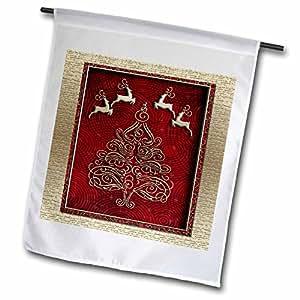 BEVERLY TURNER 圣诞节设计–驯鹿、圣诞树–旗帜 12 x 18 inch Garden Flag