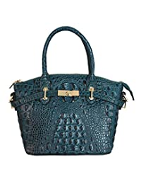 FIORI EE0019 *蓝正宗鳄鱼图案牛皮手提包。