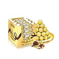 Ferrero 费列罗 Rocher榛果威化巧克力T3*16 48粒装600g(整盒销售)