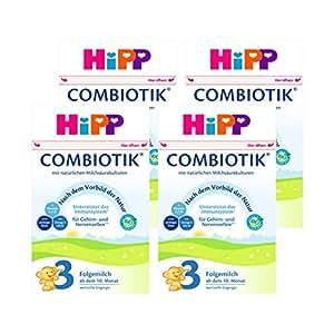 (跨境自营)(包税) Hipp喜宝 进口益生菌婴幼儿奶粉 3段 10-12个月 4盒装(4 * 600g)