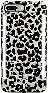 LuMee Duo 手机壳,豹纹闪光 | 前后 LED 照明,可变调光器 | 减震,防撞手机壳,自拍手机壳 | iPhone 8+ / iPhone 7+ / iPhone 6s+ / iPhone 6+