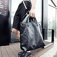 韩版男包 时尚多用包单肩包斜挎包休闲包男包手提包男包包 (黑色)