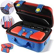 便攜收納盒兼容任天堂切換系統,可愛豪華,保護硬殼手提袋,任天堂切換控制臺和配件