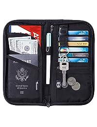 Travelambo 旅行钱包护照夹钱包信用卡夹,适用于男女