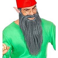 Widmann 01527 长胡须与胡子 适用于多种人物的长胡须 男式灰色 均码
