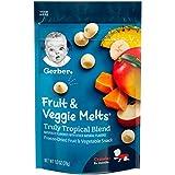 Gerber 嘉宝 水果和蔬菜小溶豆,真正的热带混合,1盎司/28克(7件)