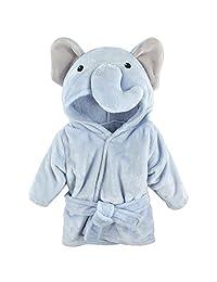 Hudson Baby 宝宝动物毛绒浴袍 蓝色大象 0-9 个月