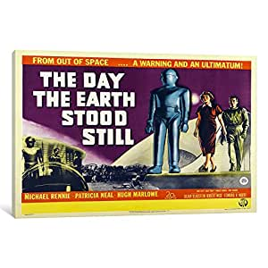 iCanvasART VAC707-1PC3-26x18 Day Earth Stood Still Canvas Print by Vintage Apple Collection, 26 by 18-Inch, 0.75-Inch Deep