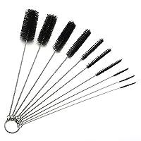 10 件 21.59 cm 尼龙管刷管清洁刷,眼镜吸管清洁刷,适用于饮用吸管、玻璃、键盘、珠宝清洁