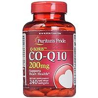 Puritan's Pride普麗普萊 Q-SORB CoQ10 200毫克,心臟健康支持補充膠囊,易釋放軟膠囊,240粒