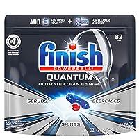Finish — Quantum 洗碗機洗滌劑,82洗碗塊, 強力清潔球、洗碗機洗滌片、洗碟劑